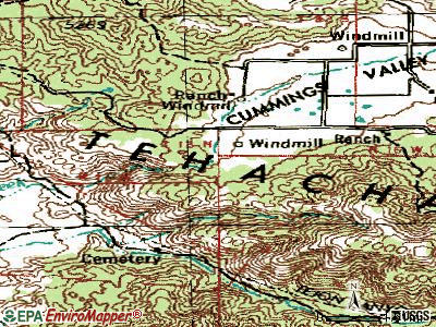 Stallion Springs topographic map