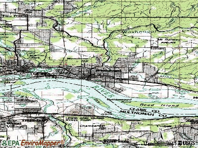 Washougal topographic map
