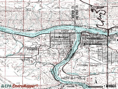 Waterville topographic map