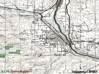 Wenatchee topographic map