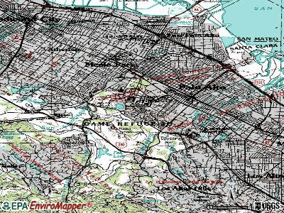Stanford topographic map