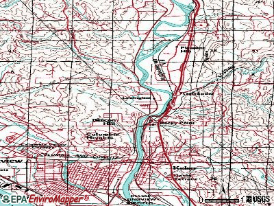 West Side Highway topographic map