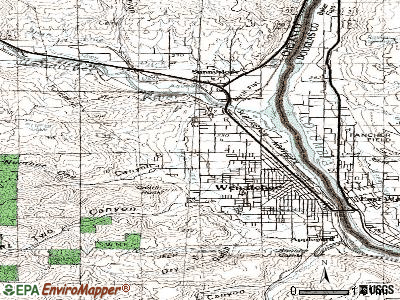West Wenatchee topographic map