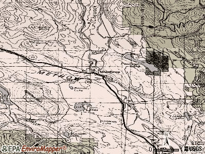 Winthrop topographic map