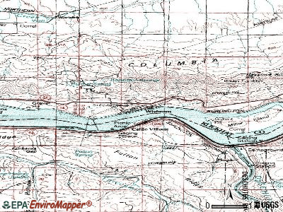 Wishram topographic map