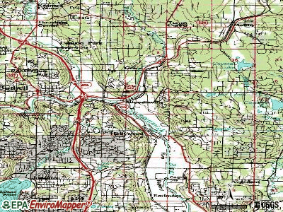 Woodinville topographic map