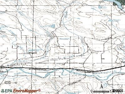 Woods Creek topographic map