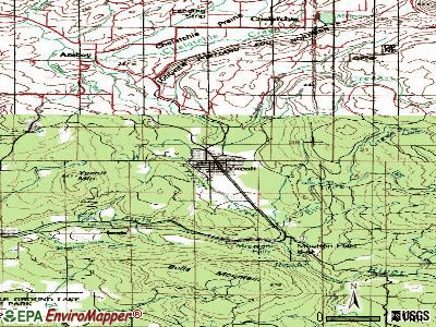 Yacolt topographic map