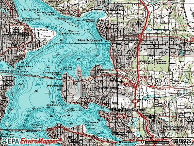 Yarrow Point topographic map
