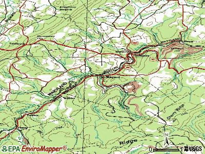 Bayard topographic map