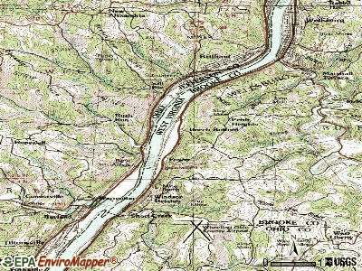Beech Bottom topographic map