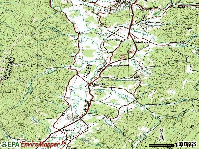 Beverly topographic map