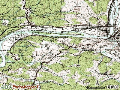 Blennerhassett topographic map