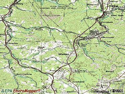 Bradley topographic map