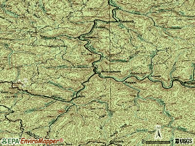 Bradshaw topographic map