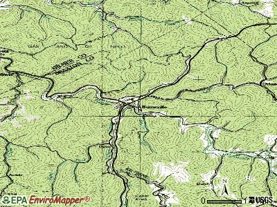 Burnsville topographic map