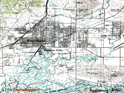 Suisun City topographic map