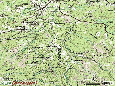 Coal City topographic map