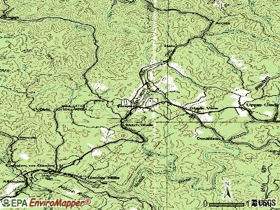 Cowen topographic map