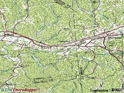 Culloden topographic map