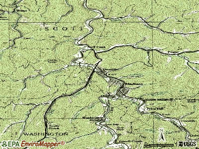 Danville topographic map