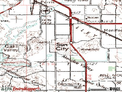 Sun City topographic map
