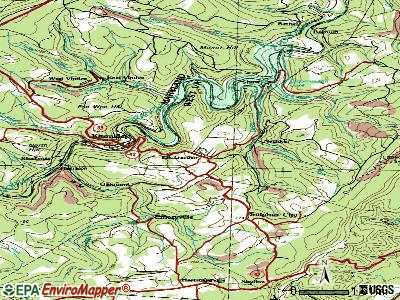 Elk Garden topographic map