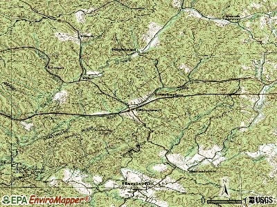 Ellenboro topographic map