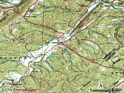 Fort Ashby topographic map