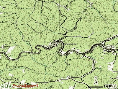 Gassaway topographic map