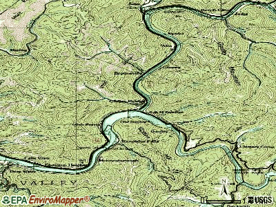 Gauley Bridge topographic map