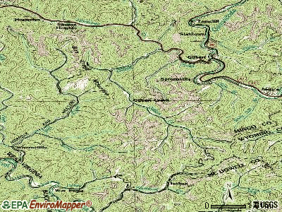Gilbert Creek topographic map