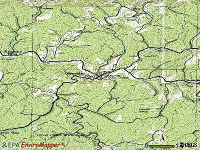 Glenville topographic map