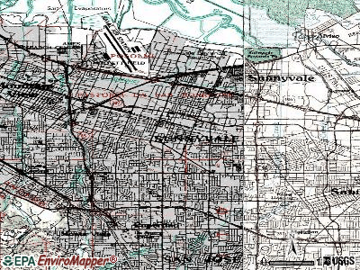 Sunnyvale topographic map