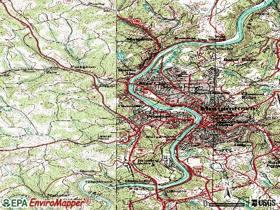 Granville topographic map