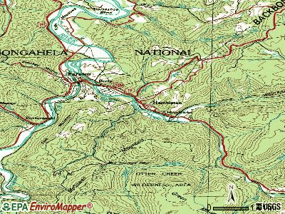 Hambleton topographic map