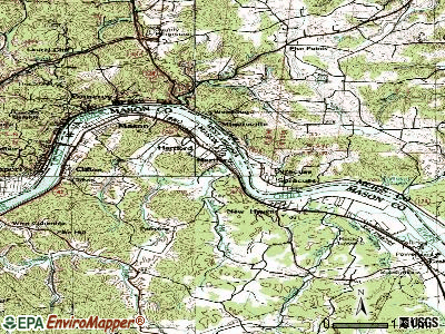 Hartford City topographic map