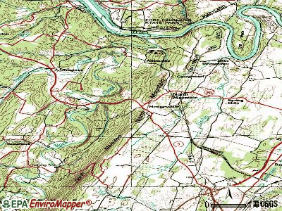 Hedgesville topographic map