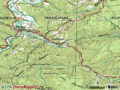 Hendricks topographic map