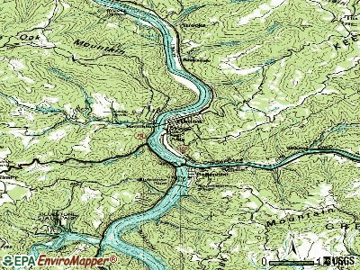 Hinton topographic map