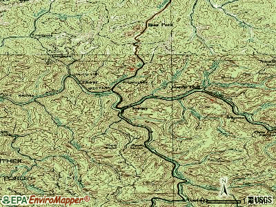 Iaeger topographic map