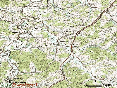Jane Lew topographic map