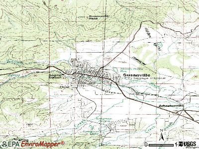 Susanville topographic map
