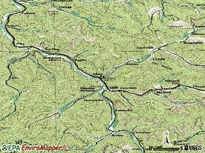 Man topographic map
