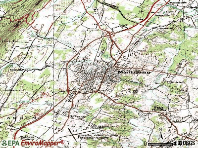 Martinsburg topographic map