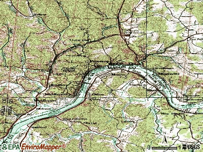 Mason topographic map