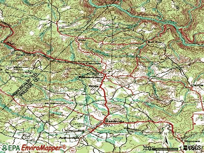 Masontown topographic map