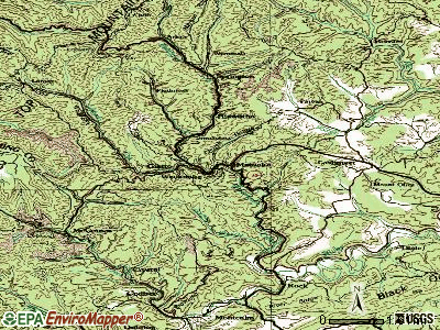 Matoaka topographic map