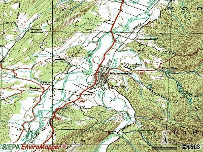 Moorefield topographic map