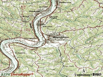 Moundsville topographic map